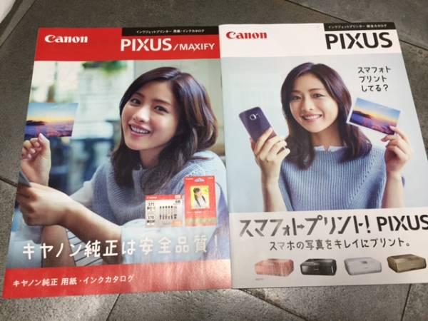 石原さとみ Canon PIXUS キャノン ピクサス カタログ2冊 ①