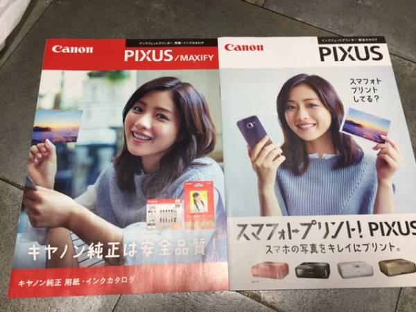 石原さとみ Canon PIXUS キャノン ピクサス カタログ2冊 ②