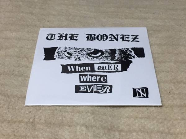 The BONEZ 会場限定CD Whenever, Wherever 新品未開封