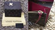 正規美品 新型 希少 銀座店購入 ルイヴィトン バイカラー ダミエ ポルトフォイユ エミリー 財布 美品 札入れ 小銭入れ