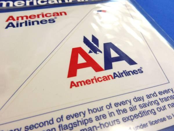 アメリカン航空尾翼型イーグルステッカー白(American Airlines/USA/ワンワールドoneworld/エアライングッズ/シール/スーツケース)_画像2
