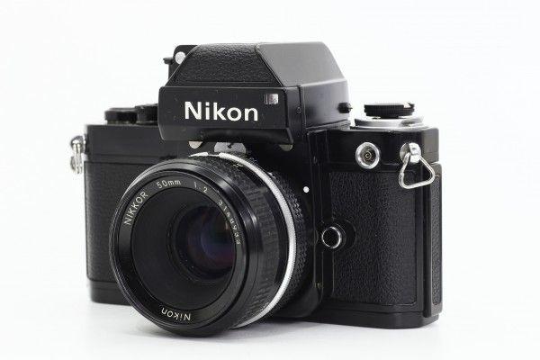 Nikon ニコン F2 フォトミック 753万台 黒ボディ+NIKKOR 50mm F2 一眼レフカメラ 単焦点レンズ フィルム 送料無料 1円オークション_画像3