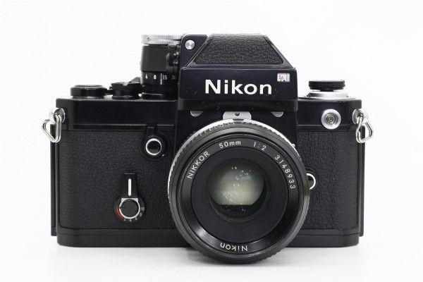 Nikon ニコン F2 フォトミック 753万台 黒ボディ+NIKKOR 50mm F2 一眼レフカメラ 単焦点レンズ フィルム 送料無料 1円オークション