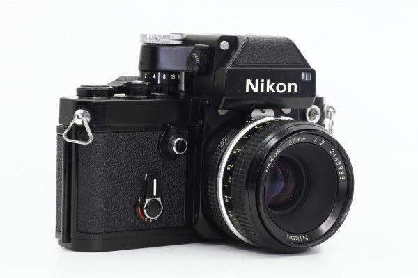 Nikon ニコン F2 フォトミック 753万台 黒ボディ+NIKKOR 50mm F2 一眼レフカメラ 単焦点レンズ フィルム 送料無料 1円オークション_画像2