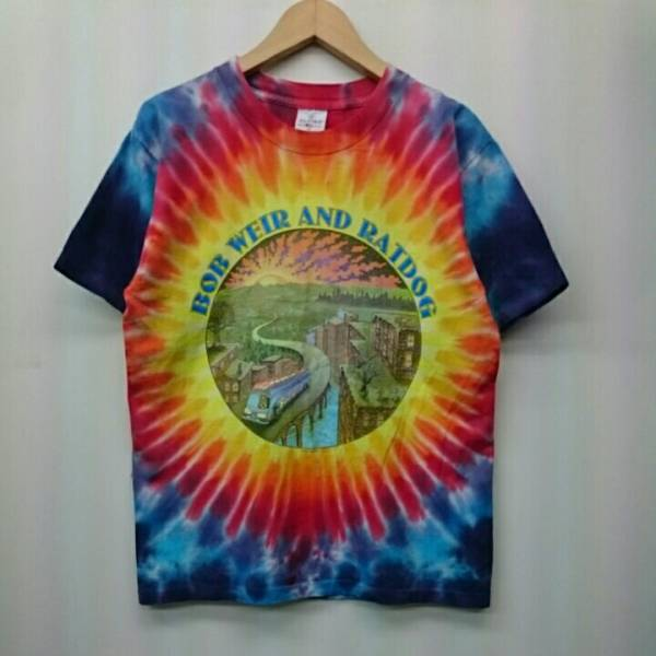 BOB WEIR&RAT DOG ボブワイアー&ラットドッグ ALORE MADE IN USA タイダイ柄 Tシャツ アメリカ製 Mサイズ バンドT