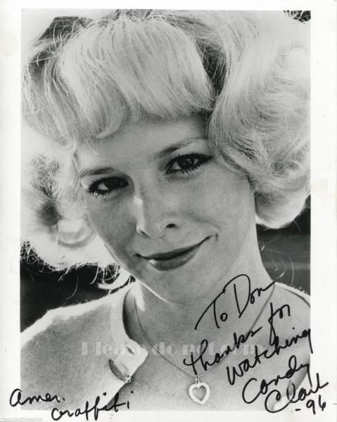 1973年アメリカン・グラフィティ デビー・ダンハム CANDY CLARK キャンディ・クラーク 直筆 サインフォト