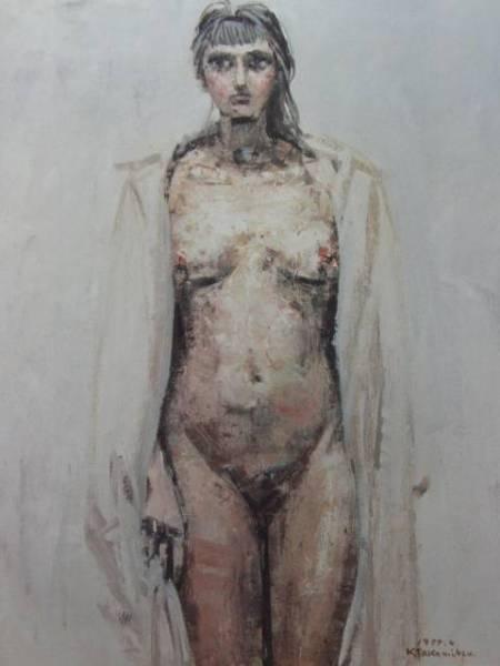 高光一也、『裸婦2』、希少画集画、裸婦、高級新品額・額装付、版上サイン入り、送料無料