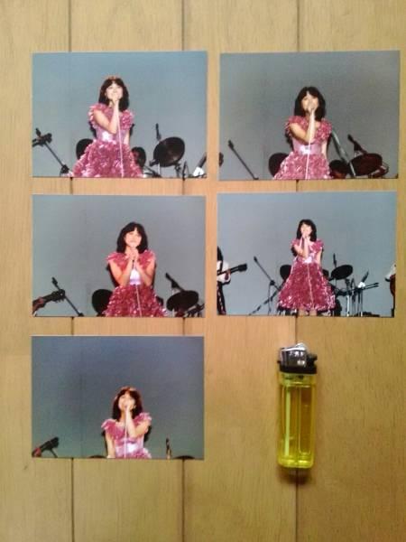 石川ひとみ 生写真 5枚セット E判サイズ 当時物 昭和 アイドル レトロ