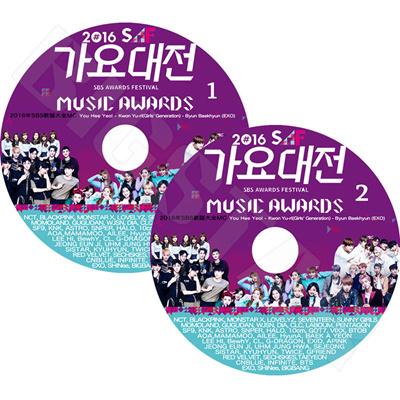 BIGBANG/EXO/防弾少年団/INFINITE/SHINEE/TWICE/BLACKPINK ☆2016 SBS歌謡祭☆ TV DVD 2枚組 レーベルあり