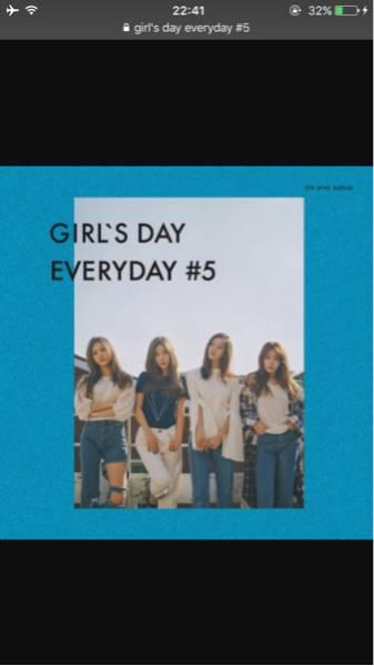 韓国●Girl's Day●『EVERYDAY #5』直筆サイン入り CD●すぐに落札で名前入れれます!レア物! コンサートグッズの画像