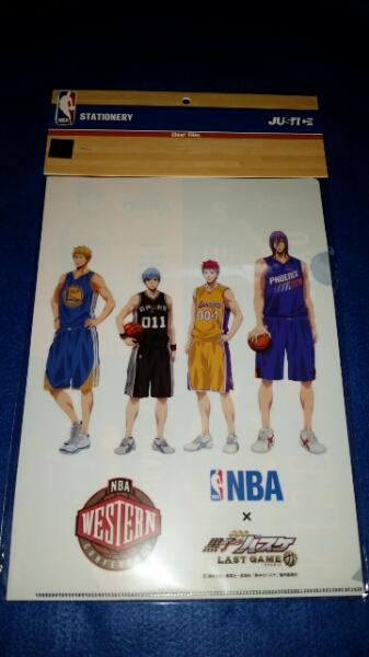 黒子のバスケ ラストゲーム NBA クリアファイル 2枚組セット グッズの画像
