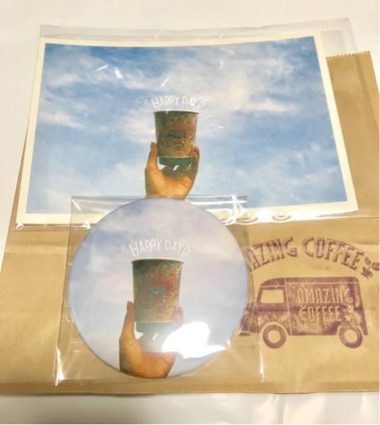 Dream Aya (E-girls) × AMAZING COFFEE」ポストカード5枚セット&缶バッジ ショップ袋付 EXILE TETSUYA ライブグッズの画像