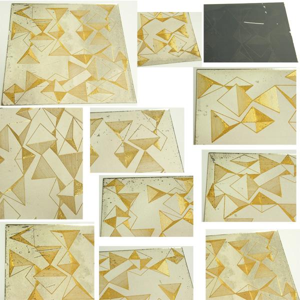 ビンテージ ミラー 6枚 SET/50's,ロカビリー,40's,アールデコ,60's,モッズ,鏡,デッドストック,幾何学,エルビス,DIY,レトロ.アンティーク_画像3
