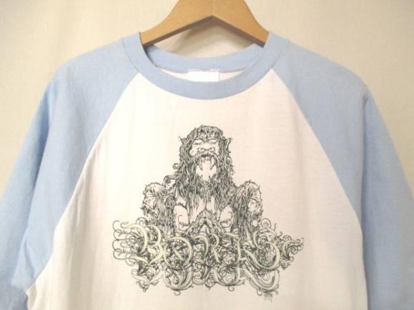 レア USA製【BORIS】特殊プリント ラグラン バンドTシャツ ボリス