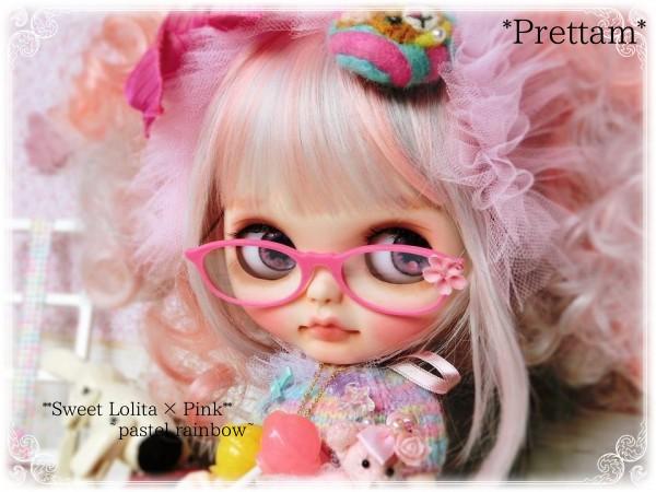 *Prettam*カスタムブライス**。・*;+Sweet Lolita×Pastel Rainbow...*+.。**