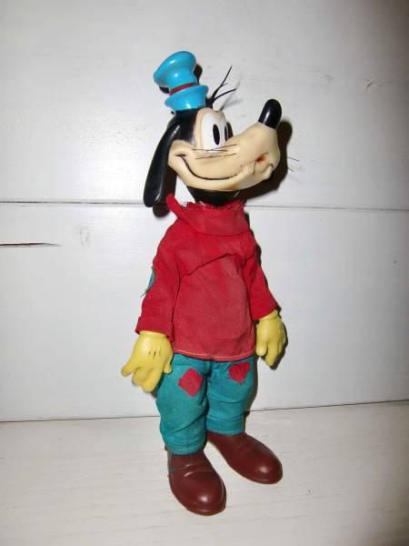 ANTIQUE Disneyディズニー*GOOFYグーフィー*ソフビドール*WALT DISNEY PRODUCT OF HONG KONG ディズニーグッズの画像