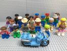 ☆レゴデュプロ☆ レゴ ミニフィグ 大量20体+バイク LEGO 人形 動物園 鉄道