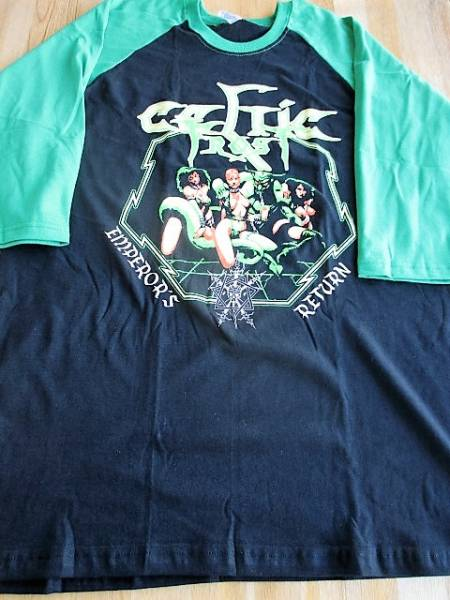 CELTIC FROST ラグラン 七分袖 Tシャツ emperror's return 黒/緑L / hellhammer messiah venom bathory slayer possessed sodom