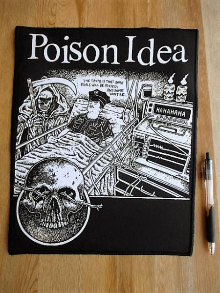 POISON IDEA プリントバックパッチ ワッペン / black flag negative approach necros fix gang gren