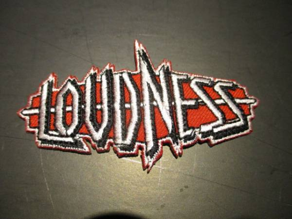 LOUDNESS 刺繍パッチ アイロン ワッペン logo shaped / iron maiden metallica
