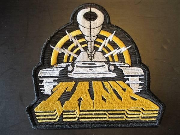TANK 刺繍パッチ ワッペン logo shaped / metallica motorhead def leppard saxon iron maiden
