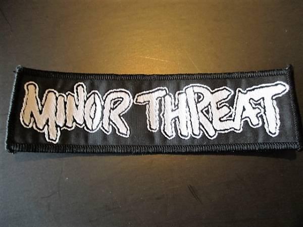 MINOR THREAT 刺繍パッチ ワッペン logo