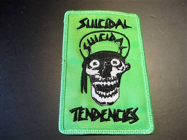 SUICIDAL TENDENCIES 刺繍パッチ ワッペン skull green / no mercy beowulf dogtown welcome to venice