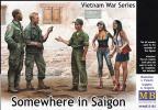1/35 マスターボックス 35185 米・ベトナム戦争サイゴン・米兵2体+南ベトナム兵+女性2体