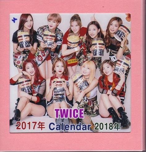 ☆New!■TWICE/トゥワイス■2017-18年フォト卓上カレンダー☆韓国