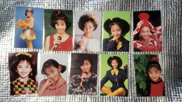 10枚 浅香唯 ブロマイド カード 生写真 昭和アイドル レトロ