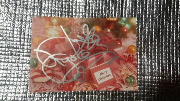 2 森山良子 直筆サイン 銀ペン TBSラジオ クリスマスカード ポストカード 歌手