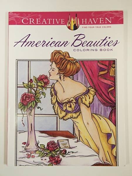 【洋書】AMERICAN BEAUTIES COLORING BOOK(大人の塗り絵)【DOVER】アメリカン・ビューティー 美人画 ぬりえ_画像1