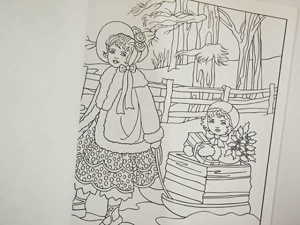 【洋書】AMERICAN BEAUTIES COLORING BOOK(大人の塗り絵)【DOVER】アメリカン・ビューティー 美人画 ぬりえ_画像3