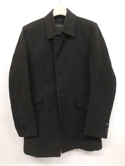 ニコルクラブフォーメン NICOLE CLUB FOR MEN 黒 コート 0413TA R F 0044321