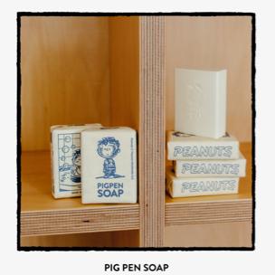 スヌーピーミュージアム限定 第3回展覧会 PIG PEN SOAP 石けん 石鹸 グッズの画像