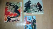キングコング対ゴジラ 1977年チャンピオンまつり版ロビーカード2枚&青森スカラ座版大魔神フェスティバルラミネートチラシ