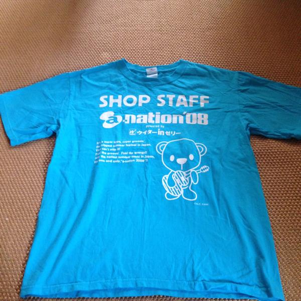 a-nation 2008年 shop staff Tシャツ M avex ライブグッズの画像