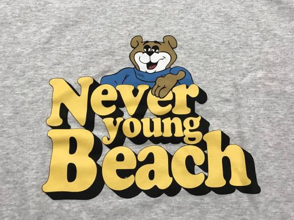 【未着用】 never young beach グッズ ネバヤン スエット トレーナー グレーMサイズ