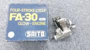 模型用エンジン SAITO 4ストロークエンジン FA-30 5cc 詳細不明 A*K0085*-085