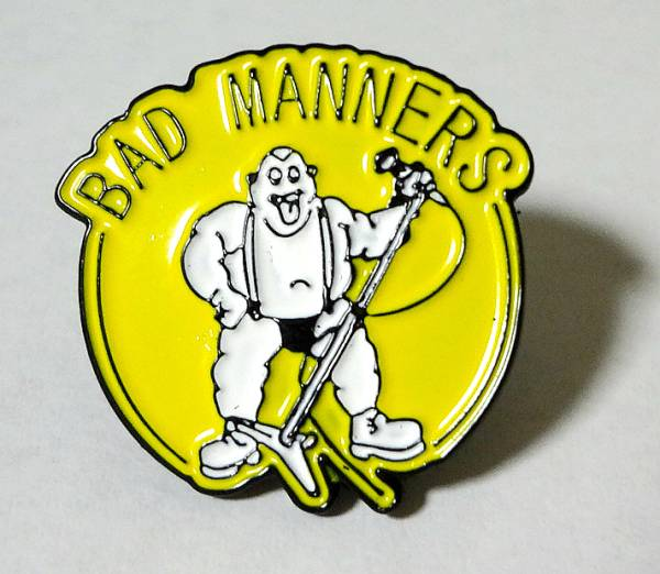 Bad Manners メタルピンバッジ(B品) Specials,Madness,Selecter,Oi Skall Mates,2 Tone,Ska