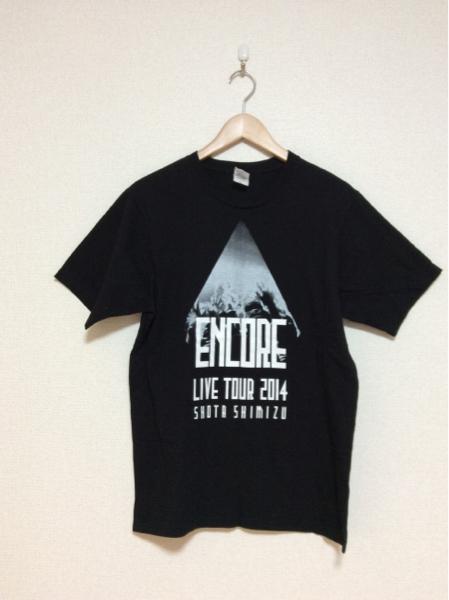 を14 清水翔太 ライブツアープリントTシャツ 2014 L 黒 人気 ライブグッズの画像
