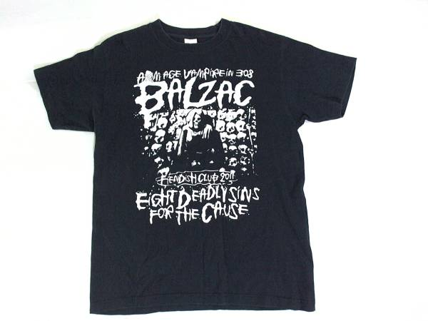 バルザック★BALZAC FIENDISH CLUB2011★プリント半袖Tシャツ 黒 プリントスター製 M