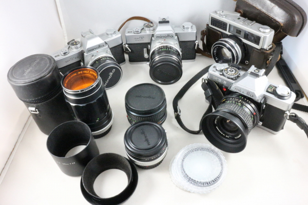 minolta ミノルタ カメラ レンズ テレプラス 他  大量 おまとめ出品 ジャンク品 srT XG-S srT101 AL-2
