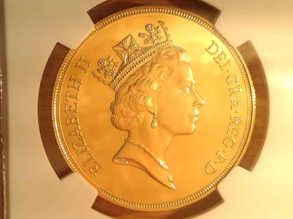 イギリス 1985 エリザベス 5ポンド金貨 PF68UC 希少NGC PFUC91枚