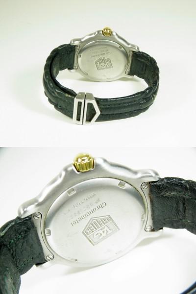 ★ジャンク TAGHEUER タグホイヤー 6000シリーズ WH5153-K1 クロノメーター GPコンビ 自動巻★_画像3