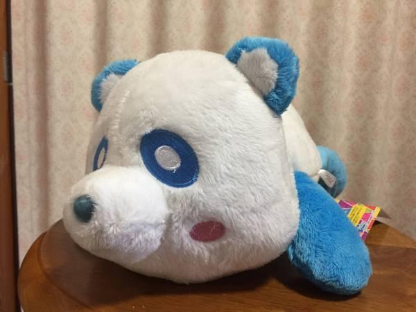 AAA え~パンダ 寝そべりBIGぬいぐるみ 與真司郎 青 ブルー