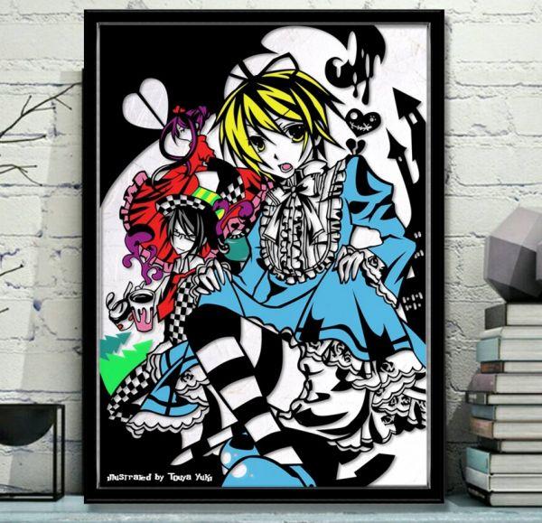 灯夜雪 「少年アリス(カラーVer)」 ふしぎの国のアリス 切り絵アート B4サイズ