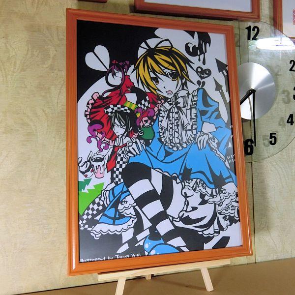 灯夜雪 「少年アリス(カラーVer)」 ふしぎの国のアリス 切り絵アート B4サイズ_画像3