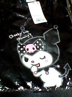 クロミ kuromi 大人キャラTシャツ Tシャツ サンリオ サイズ M ~ L 婦人用 新品 グッズの画像