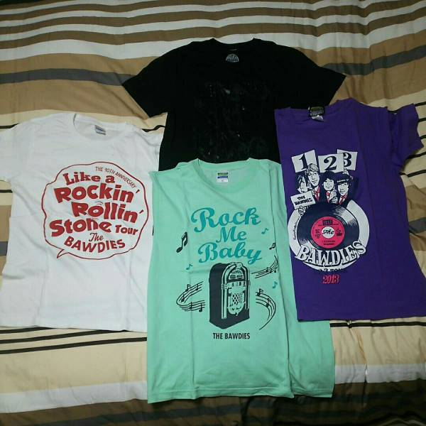 THE BAWDIES ボーディーズ ボゥディーズ Tシャツ セット ライブグッズの画像